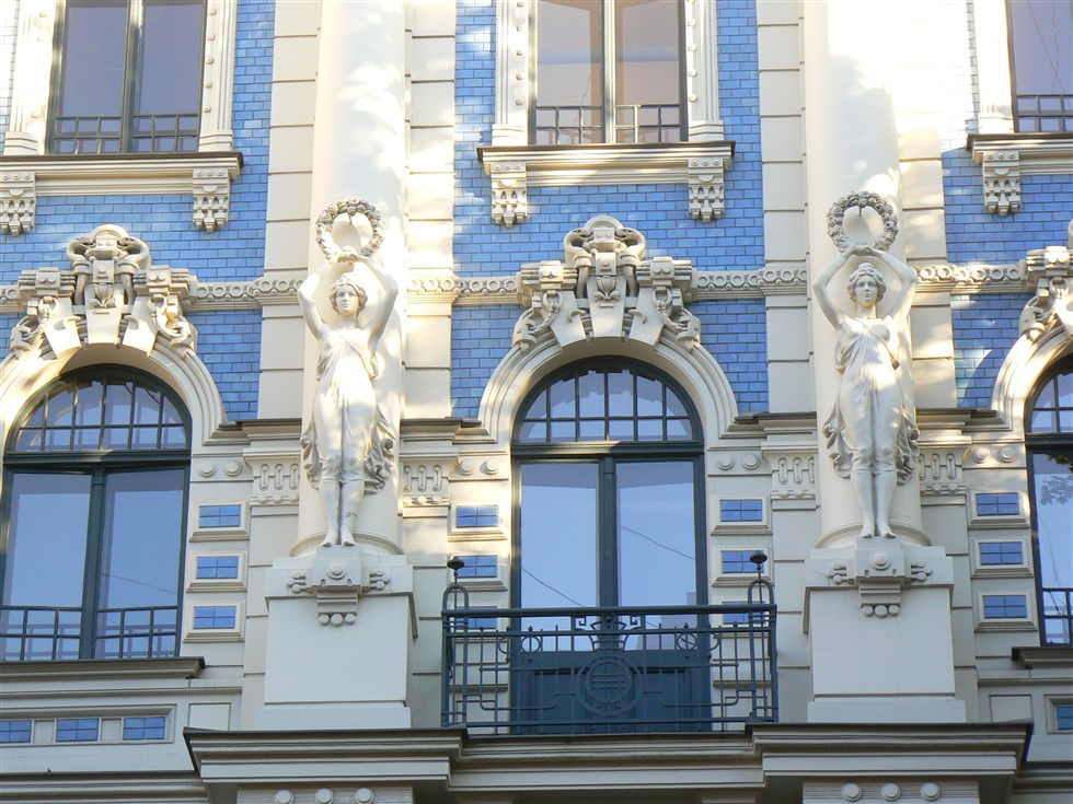 Riga art nouveau facades are wonderful