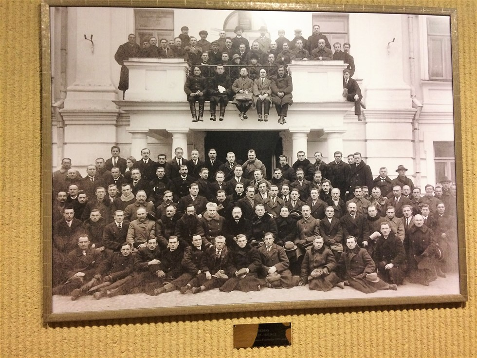 Lithuanian Parliament formed after Independence in 1918 featuring two female MPs