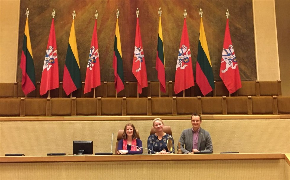 Baltic Holidays' team seated in Lithuanian Parliament