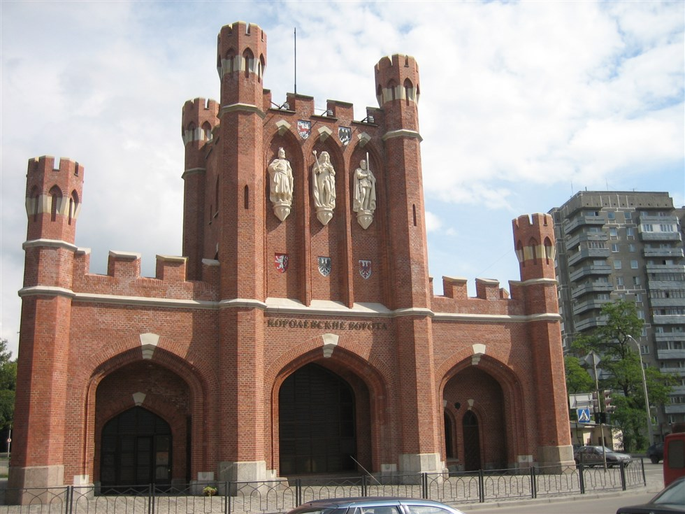 Old city gate in Kaliningrad (Koenigsberg)