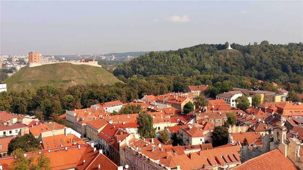 Vilnius old town, Gediminas castle & Hill of Three Crosses on our BBC War & Peace Tour