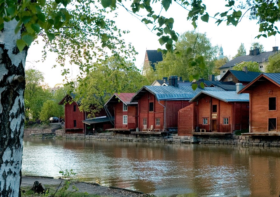 Porvoo old town is a pretty contrast to the more bold and impressive architecture of Helsinki