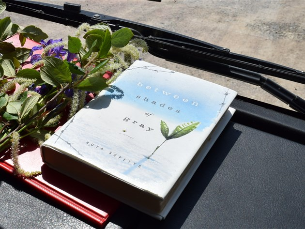 Between Shades of Gray book in the Baltic Holidays van