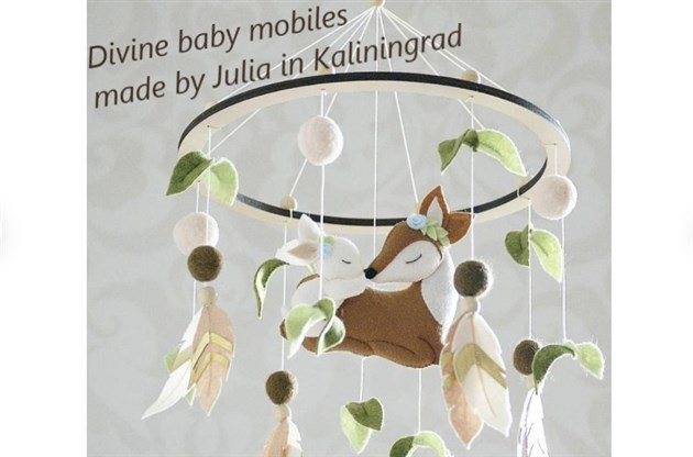 The cutest baby mobiles from Kaliningrad