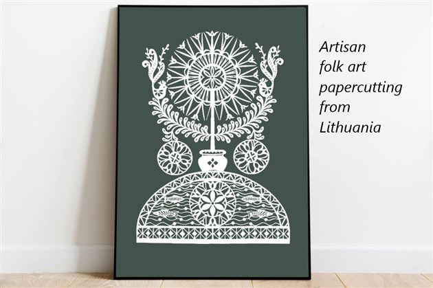 Paper cutting folk art from Lithuania