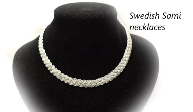 Sami necklace from Sweden made from Pewter thread