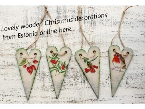 Wooden Christmas decorations from Estonia
