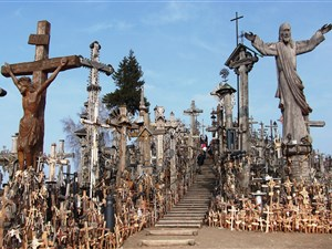 The Hill of Crosses near Siauliai in Lithuania