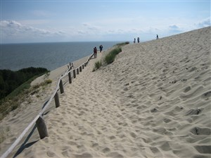 Sand dunes at Nida Lithuania