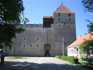 Bishops castle in Kuressaare on Saaremaa in Estonia
