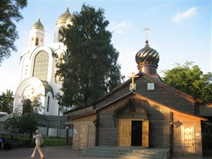 Neighbouring churches in Kaliningrad city centre