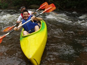Kayak through Vilnius old town - perfect family holiday activity