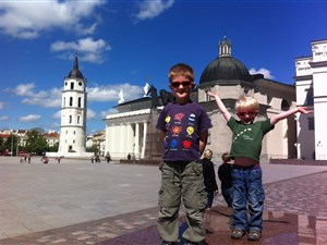 Kids enjoy Vilnius just as much as the adults