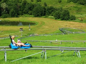 Summer toboggan in Lithuania on a family holiday