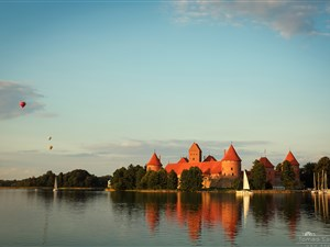 Trakai island castle on our BBC War & Peace Private Tour
