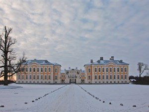 Rundale Palace in winter atmosphere for BBC War & Peace tour