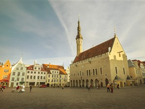 Tallinn old town square looking lovely in the sun!