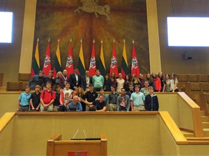 Between Shades of Gray School Tour in Lithuania visit to the Lithuanian Parliament